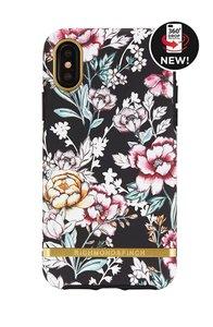 Richmond & Finch Black Floral - Gold Details iPhone X/Xs (zwart)