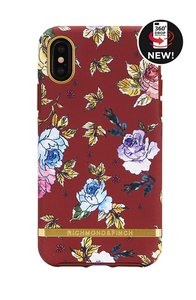 Richmond & Finch Red Floral - Gold Details iPhone X (rood)