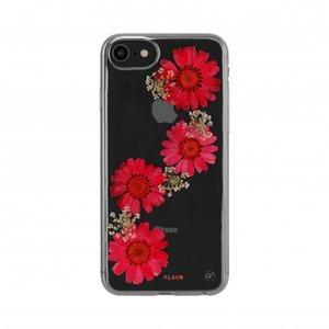 FLAVR iPlate Real Flower Paula (rood) voor iPhone 6 / 6s / 7 / 8