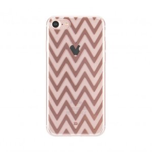 XQISIT Shell Zigzag voor de iPhone 7 en 8 (Clear/Wit)