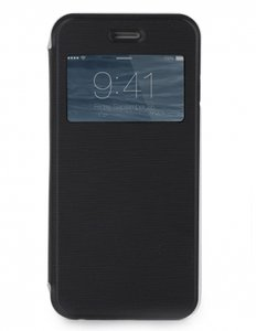 Skech SlimView Folio Case Black / Clear voor iPhone 6 Plus / 6s Plus