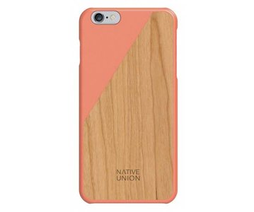 Native Union CLIC Wooden Case Coral / Cherry
