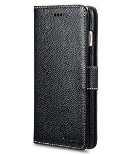 Melkco Premium Leather Wallet Case Black voor iPhone 6 Plus / 6s Plus