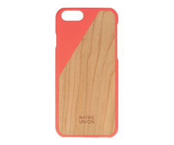 Native Union CLIC Wooden Case Coral / Cherry voor iPhone 6 / 6s