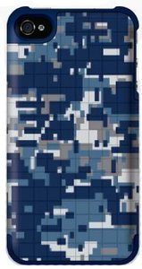 Griffin PixelCrash Camo Blue / Gray voor iPhone 5 / 5S / 5SE