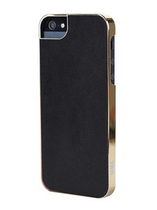 Sena Metallic Ultrathin Snap-On Case Black / Gold voor iPhone 5 / 5S / 5SE