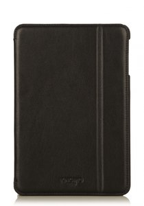 Knomo Folio Case Leather Black voor iPad mini