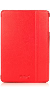 Knomo Folio Case Leather Scarlet Red voor iPad mini