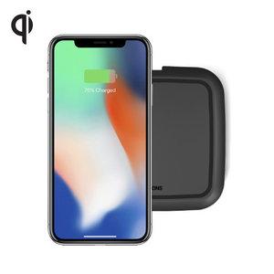 Zens Qi single draadloze oplader 10W (zwart)