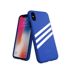 Adidas Moulded Case Suéde Blauw voor iPhone X/Xs