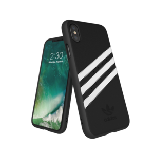 Adidas Moulded Case Suéde Zwart/Wit voor iPhone X/Xs
