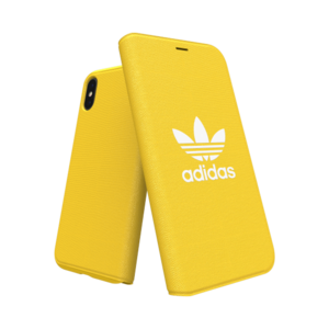 Adidas Booklet Case voor de iPhone X / Xs (geel)