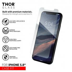 THOR Glass Screenprotector Case-Fit Easy Apply voor de iPhone X/Xs