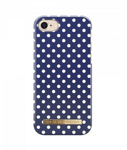 iDeal of Sweden iPhone 8 / 7 Fashion Back Case Blue Polka Dots