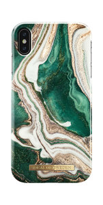iDeal of Sweden Fashion Back Case Golden Jade Marble voor iPhone Xs Max