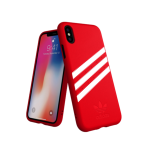 Adidas Moulded Case Suéde Rood voor iPhone Xr