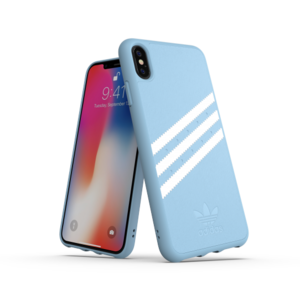 Adidas Moulded Case PU Suéde Blauw voor iPhone Xs Max