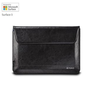 "Maroo Executive Leather Sleeve Microsoft Surface 3 (12"") zwart"